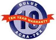 Dulux AcraTex 10 Year Warranty